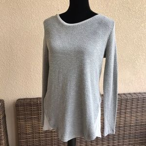 Zara Collection Gray Silver Sweater Tunic Length M